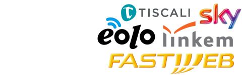 Negozio Fastweb, Eolo, Linkem, Tiscali, Sky